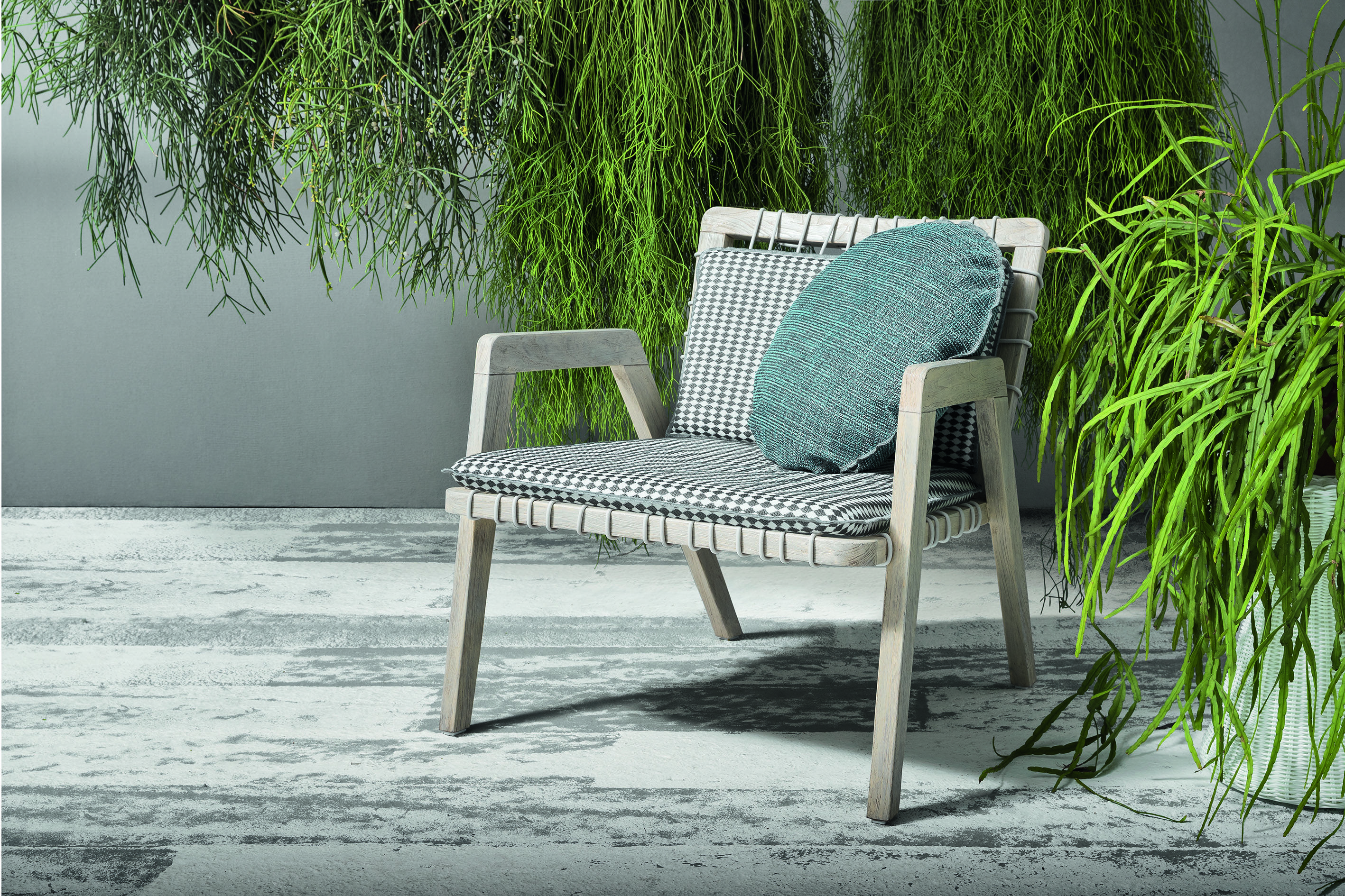 InOut 800 Series for Outdoor use. Armchair in aged Teak ...