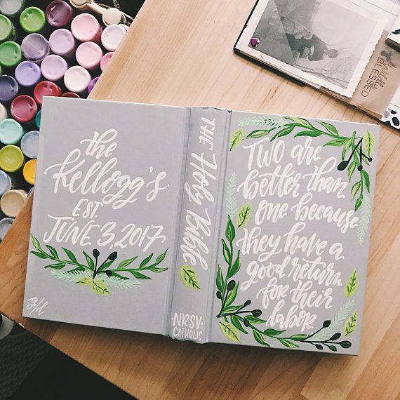 Wedding Hand Painted Custom Guest Book