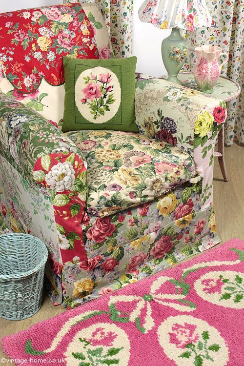 Our Cosy English Cottage with Vintage Rose and Floral Fabrics ...