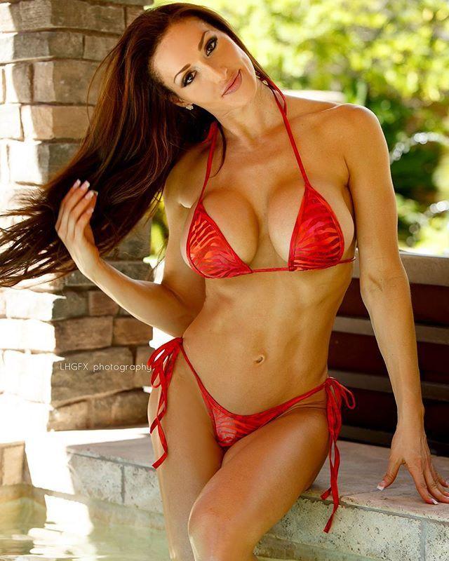 fitness model busty
