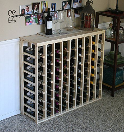 Wine Racks Vinogrotto 72 Bottle Table Wine Rack Pine By Vinogrotto Exclusive 12 Inch Deep Design Conceals Enti Wine Rack Table Top Wine Rack Wood Wine Racks