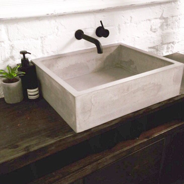 concrete basin pool and outdoor living pinterest. Black Bedroom Furniture Sets. Home Design Ideas