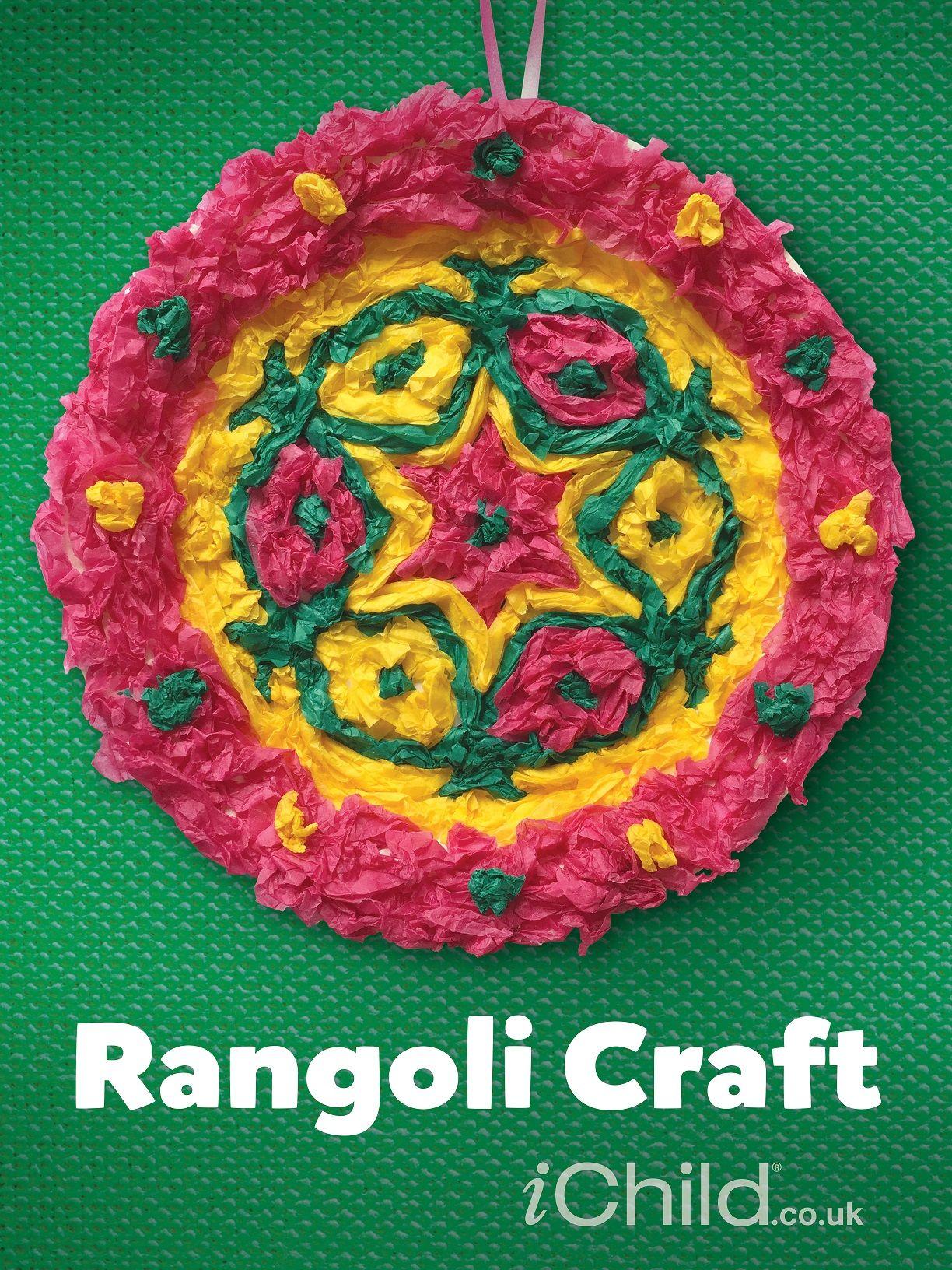 Beautiful Rangoli paper plate craft for children to