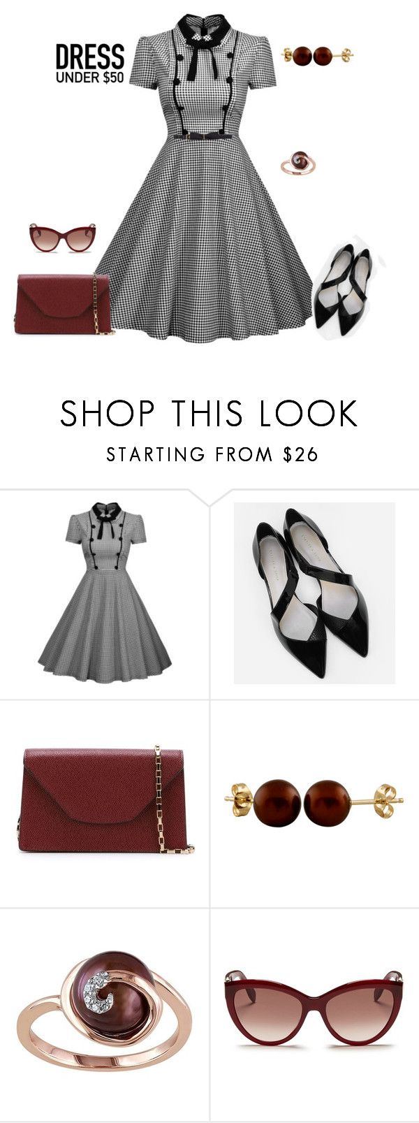 """""""outfit 4169"""" by natalyag ❤ liked on Polyvore featuring CHARLES & KEITH, Valextra, Splendid Pearls, Alexander McQueen, Lanvin and Dressunder50"""