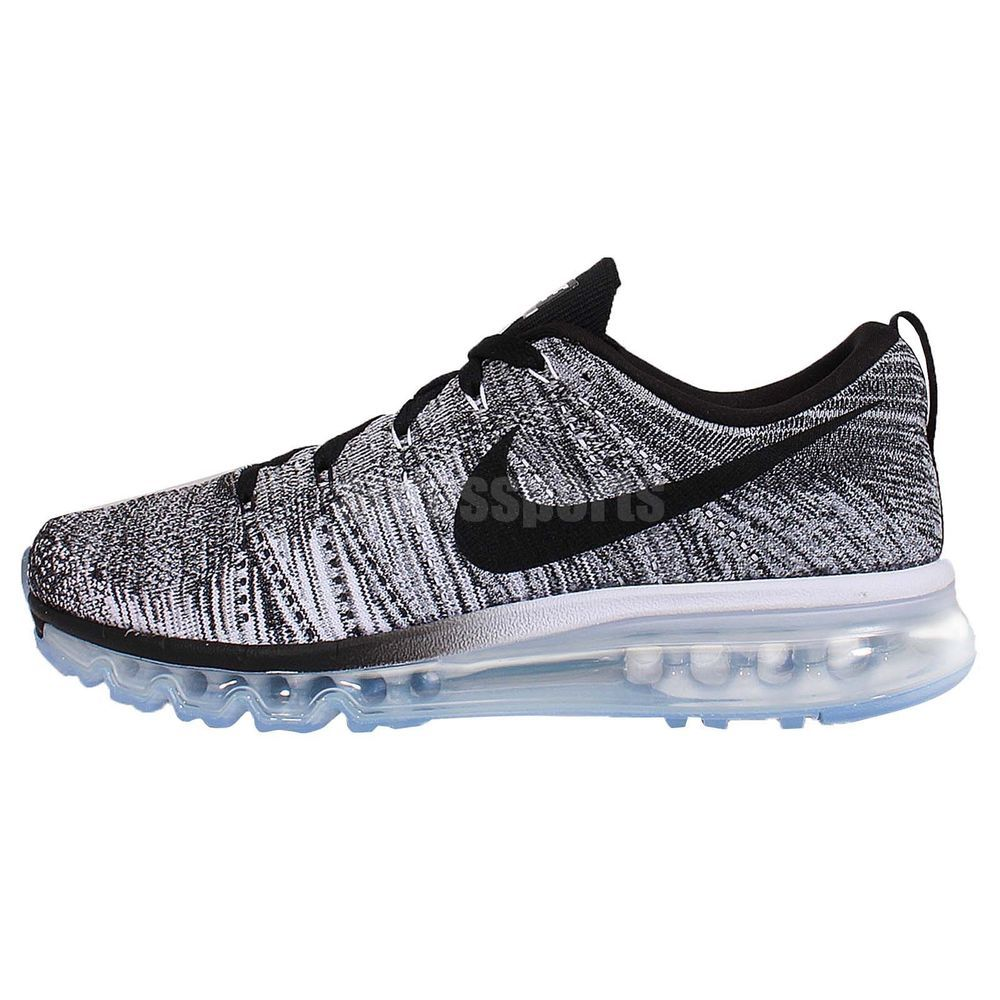 Nike Flyknit Max Oreo Black White Grey Mens Running Shoes Air Max ...