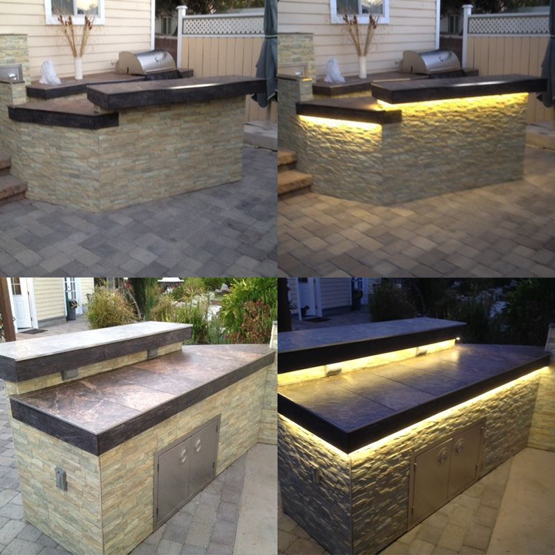 Led Strip Lighting Is Great For Lighting And Accenting Outdoor Area Illuminate And Decorat Outdoor Kitchen Design Outdoor Kitchen Island Outdoor Kitchen Patio