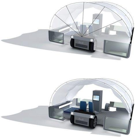Mobile Transformer Futuristic Tent + Truck + Trailer Home  sc 1 st  Pinterest & Mobile Transformer: Futuristic Tent + Truck + Trailer Home | Home ...