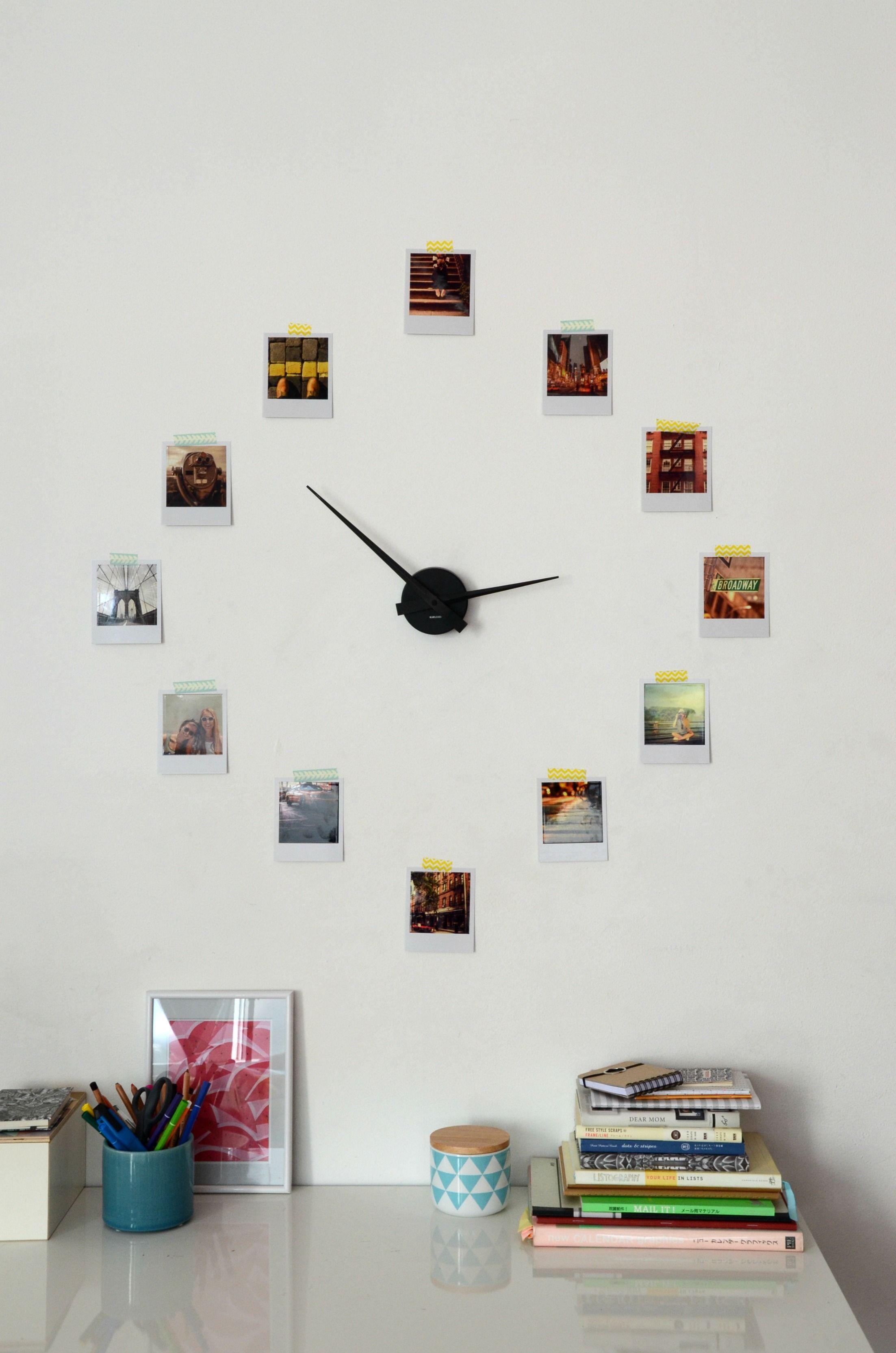diy d co une horloge r tro en 3 tapes une horloge photos pinterest deco horloge et. Black Bedroom Furniture Sets. Home Design Ideas