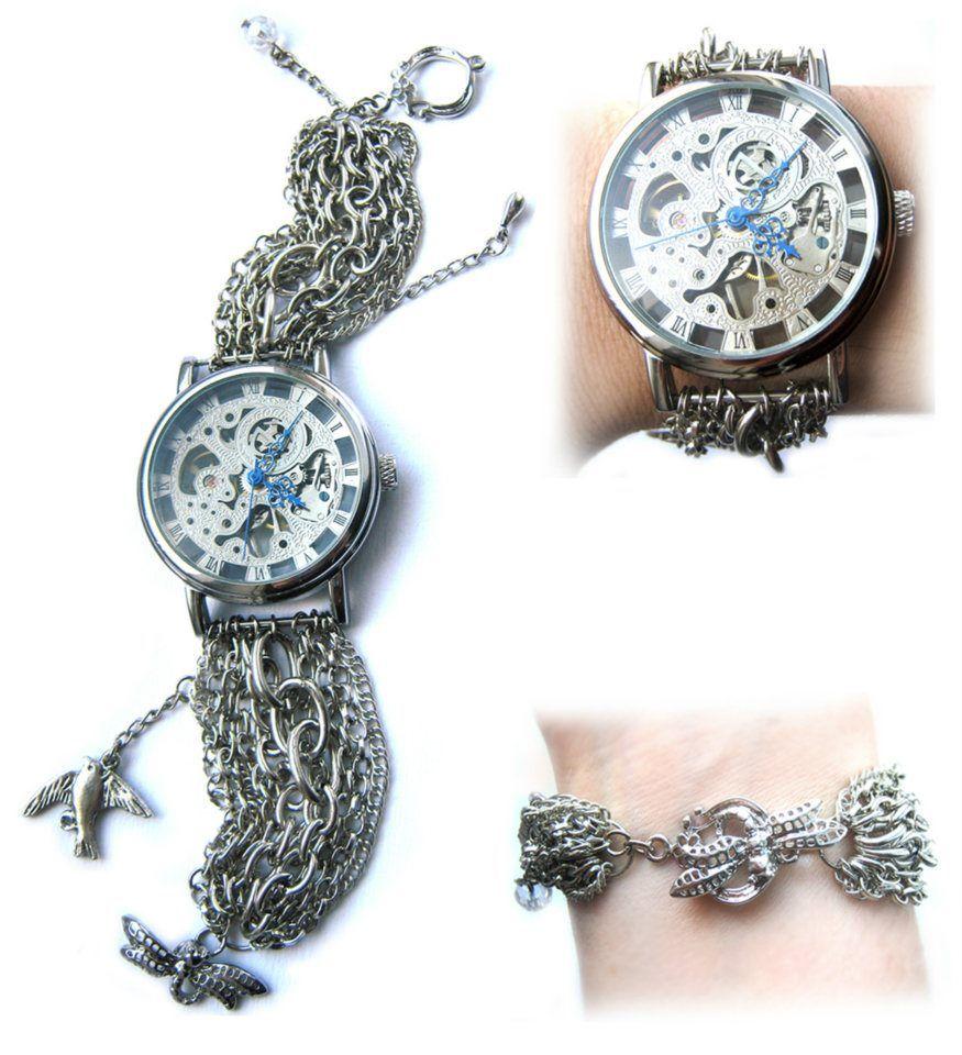 Mechanical watch Dragonfly - design and handmade by Biliana Savova