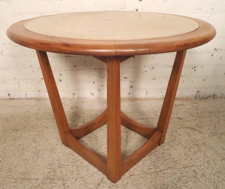 round travertine top side table in 2018 t rappa pinterest rh pinterest com