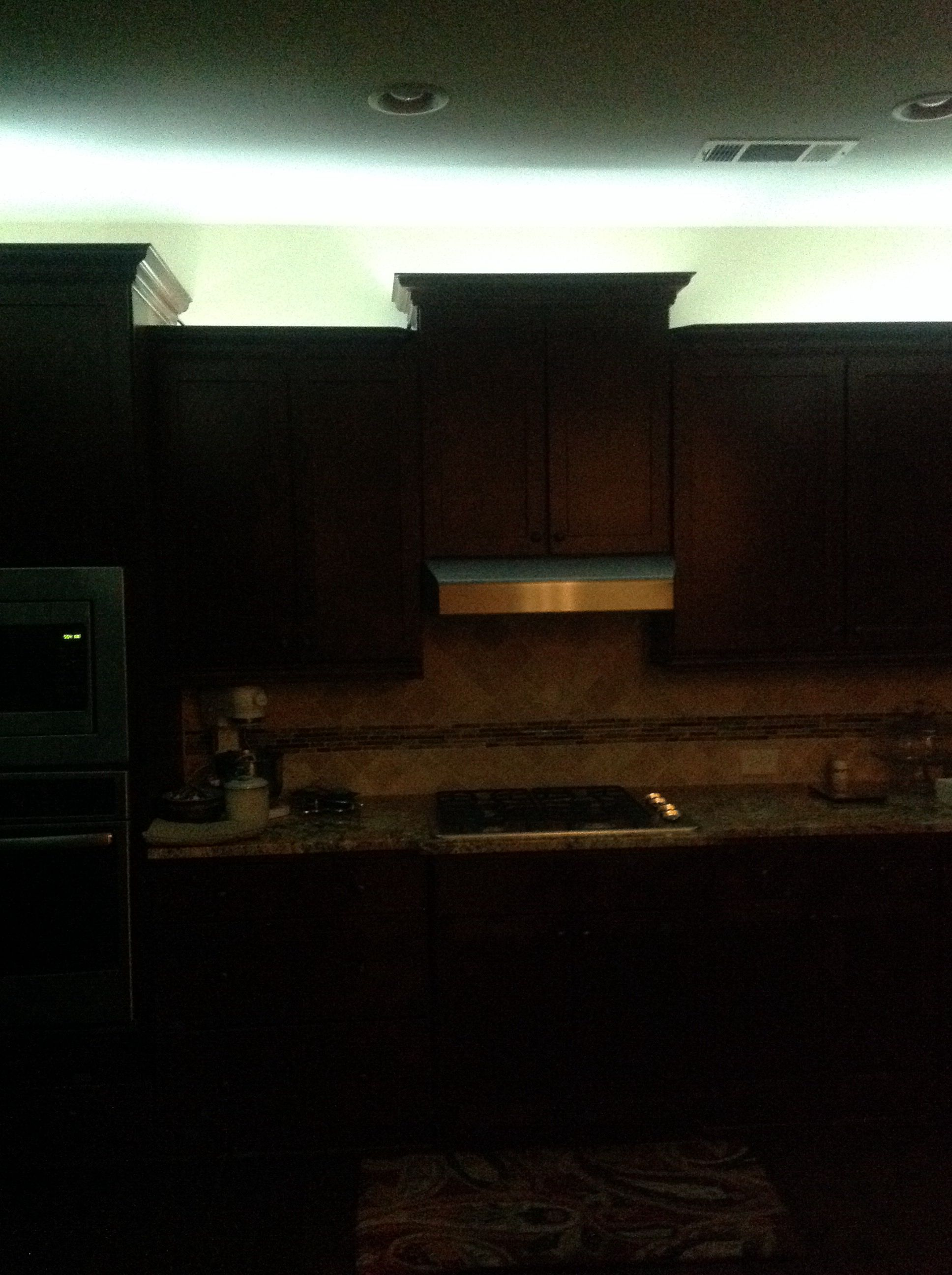 Rope lighting installed above kitchen cabinets 😉😉😉 | Above ...
