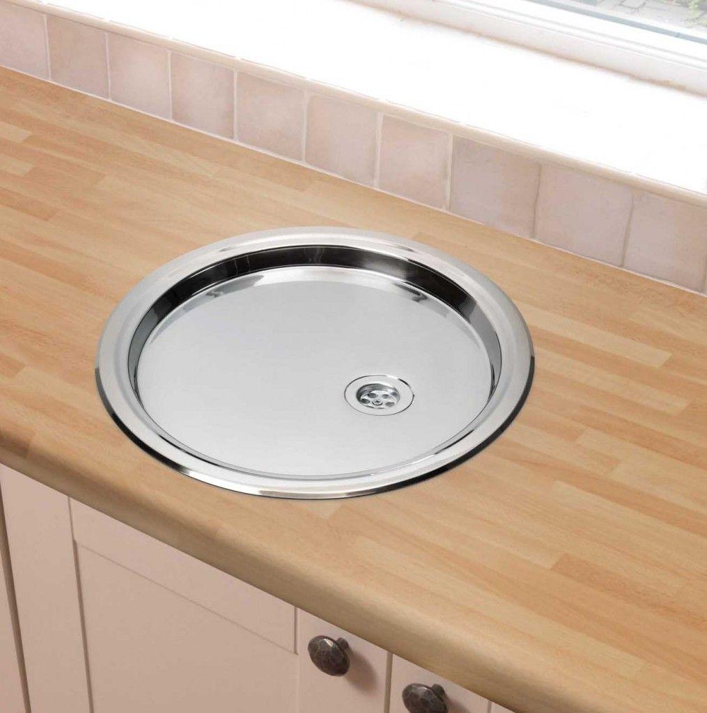 The original design of round stainless steel bathroom sink. | Bath ...