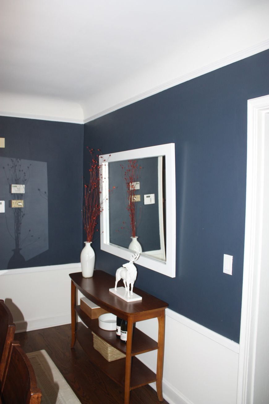 Dining room with chair rail paint colors/paint color ideas for dining room with chair rail - A Tweaked Dining Room Boys Room Colorsdining Room Colorsbedroom Colorsroom Colour Ideasbedroom Ideashallway Paint