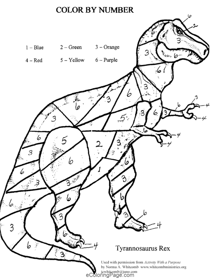 12 Color By Numbers Coloring Pages For Kids Dinosaur Coloring Pages Dinosaur Coloring Coloring Pages For Kids