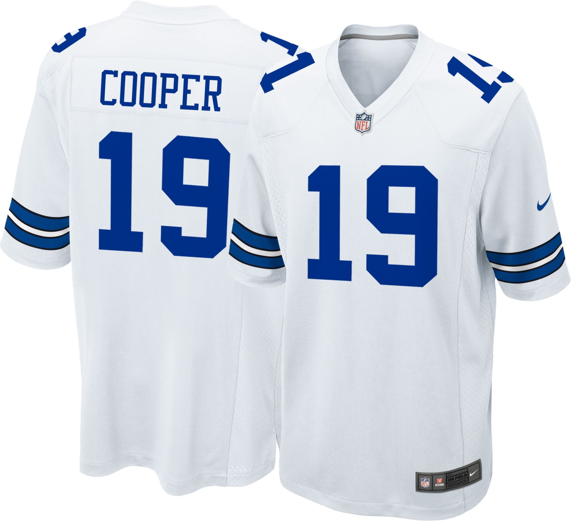 free shipping f6afa ed0ab Nike Men's White Game Jersey Dallas Amari Cooper #19 in 2019 ...