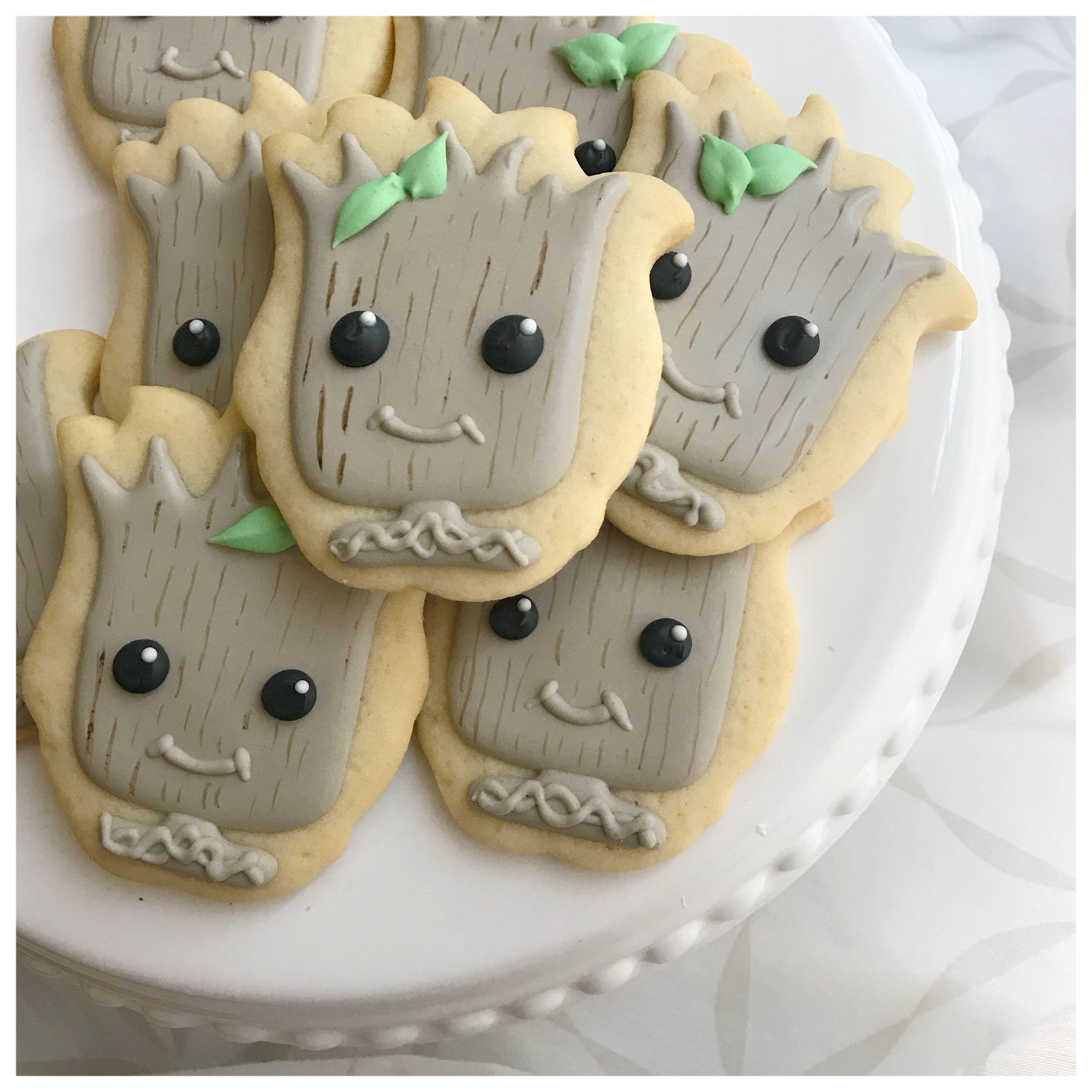 Teenage Groot sugar cookies! | Cookies | Pinterest | Kekse backen ...