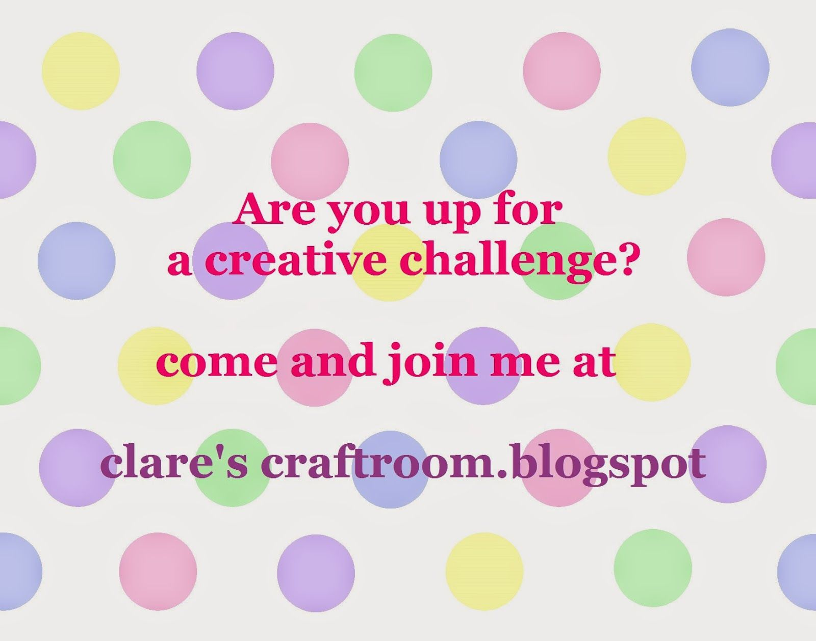 clare's craftroom  fun and easy creative challenge!