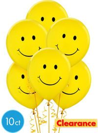 Smiley Party Supplies Party City Tacys 11th Birthday Party
