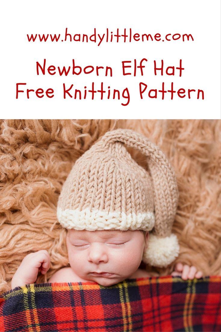 Free Holiday Newborn Hat Knitting Pattern Craft Ideas Pinterest