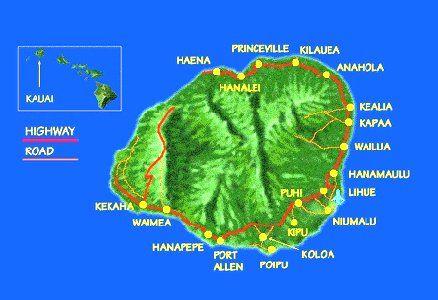 Kehaha Map Of Kauai Hotels on