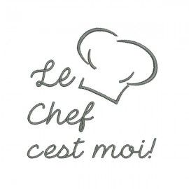 Motif De Broderie Machine Chef De Cuisine Motifs De
