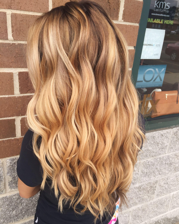 pretty blonde waves! blonde hair color, women's hair