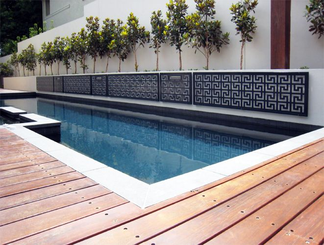 Wall cladding wall panels decorative panels for Pool fence screening ideas