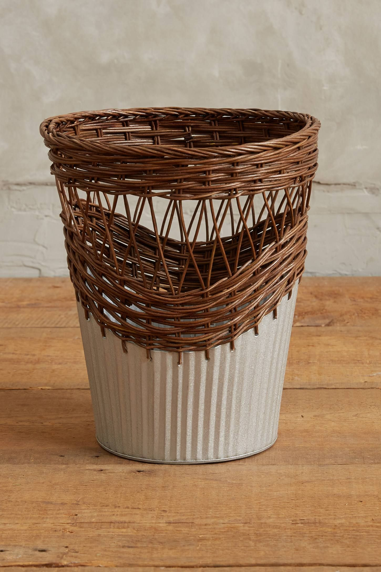 Wrapped rattan waste basket boho bathroom rattan basket baskets home accents decorative