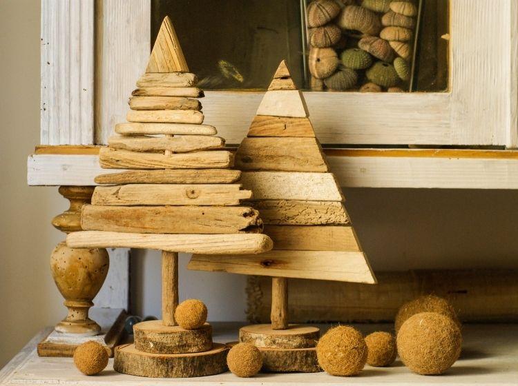 Wunderbar Weihnachtsdeko Basteln | 30 Ideen Für Weihnachtsdeko Aus Holz Und  Basteltipps