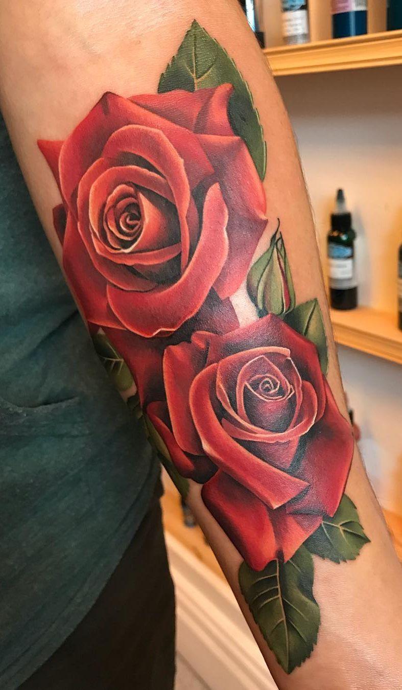 Red Roses Tattoo C Tattoo Artist Michelle Maddison Rose Tattoos For Women Rose Tattoos For Men Rose Drawing Tattoo