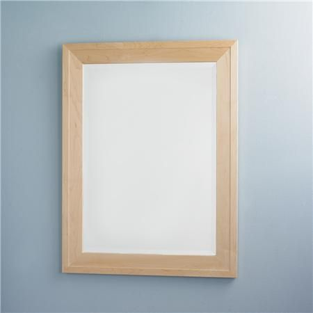 Natural Maple Wood Frame Mirror Shades Of Light Master