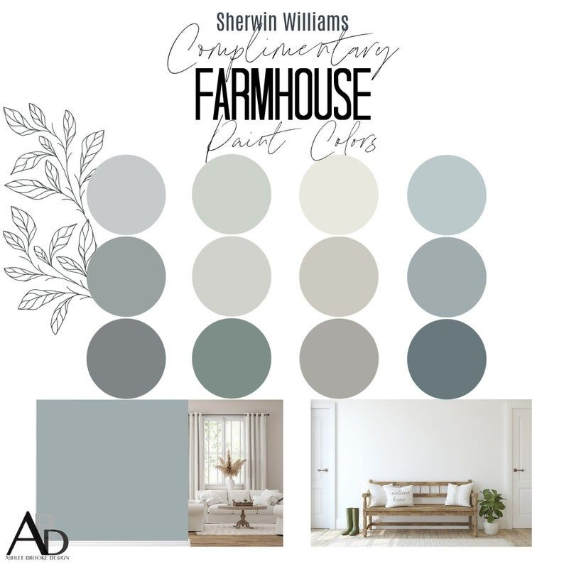 Sherwin Williams Complimentary FARMHOUSE Paint Col