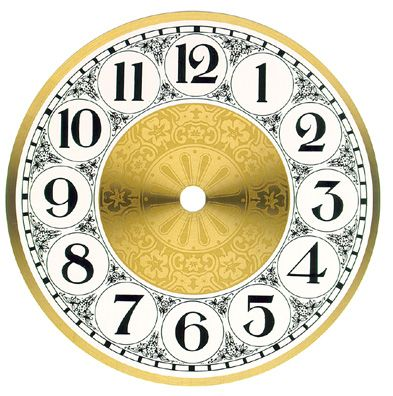 Antique Clock Faces Black With Gold Numbers  Dials For Clocks