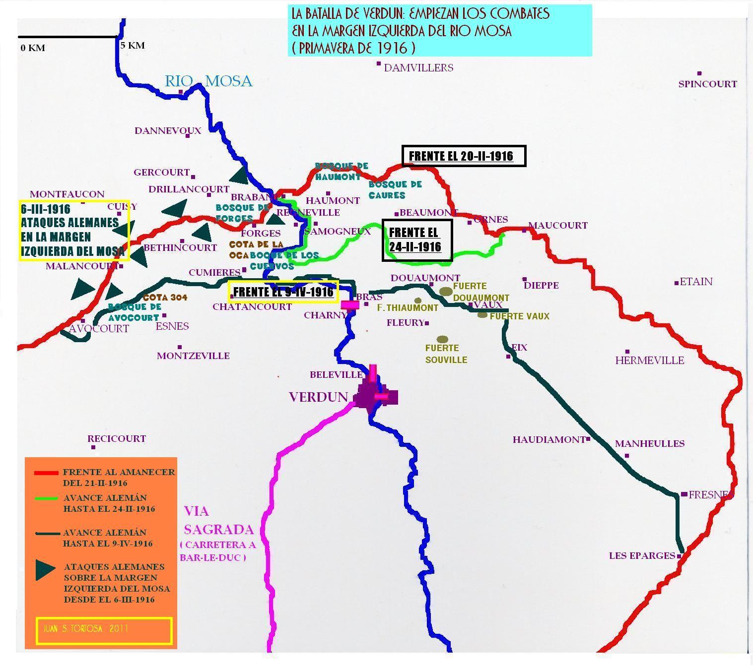 Batalla De Verdun Mapa.Pin En Francia I G M