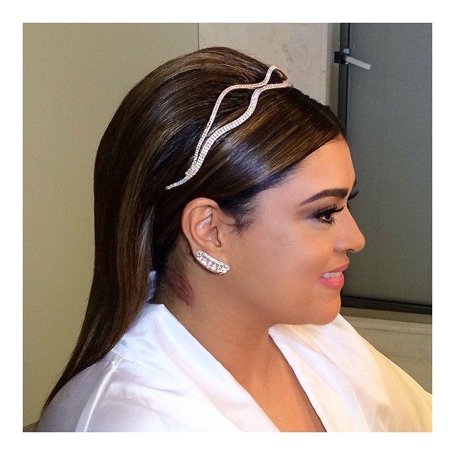 O penteado da noiva Preta Gil