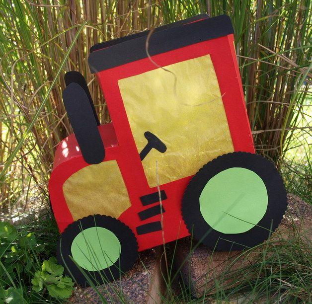 Traktor Laterne Laternenideen Pinterest Laternen Basteln