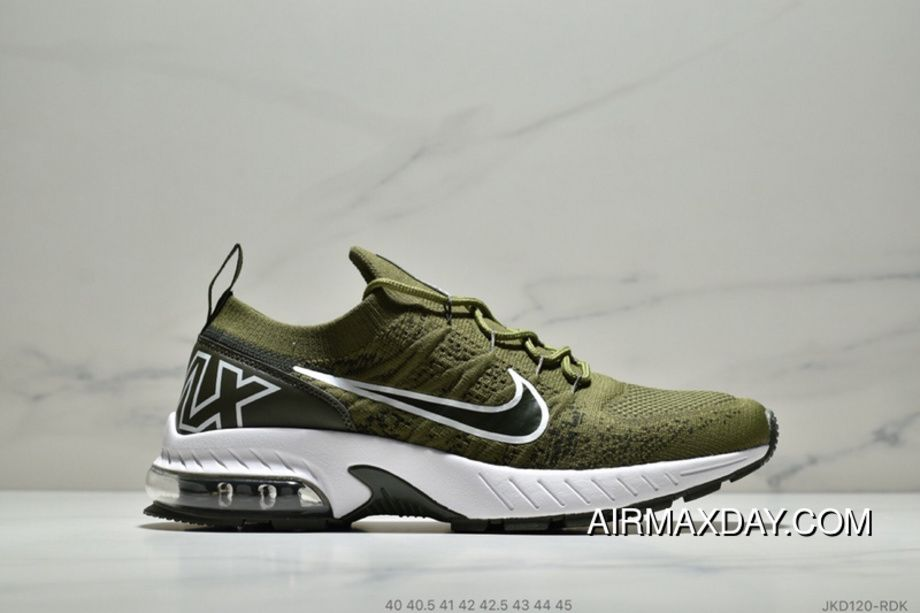 e85b7eb6207c Nike Air Max Flyknit JKD120-RDK Mens Running Shoes Casual Sneakers Army  Green Black Discount