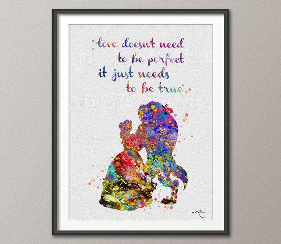 Wedding Gift Ideas Disney : watercolor nursery nursery art disney princesses artwork belle disney ...