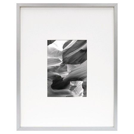 Metal Frame - Brushed Silver - 11x14 Matted for 5x7 Photo - Room ...