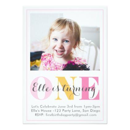 girl first birthday invitation birthday gifts party celebration
