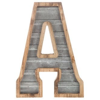Wood Galvanized Metal Letter Metal Wall Letters Metal Letters