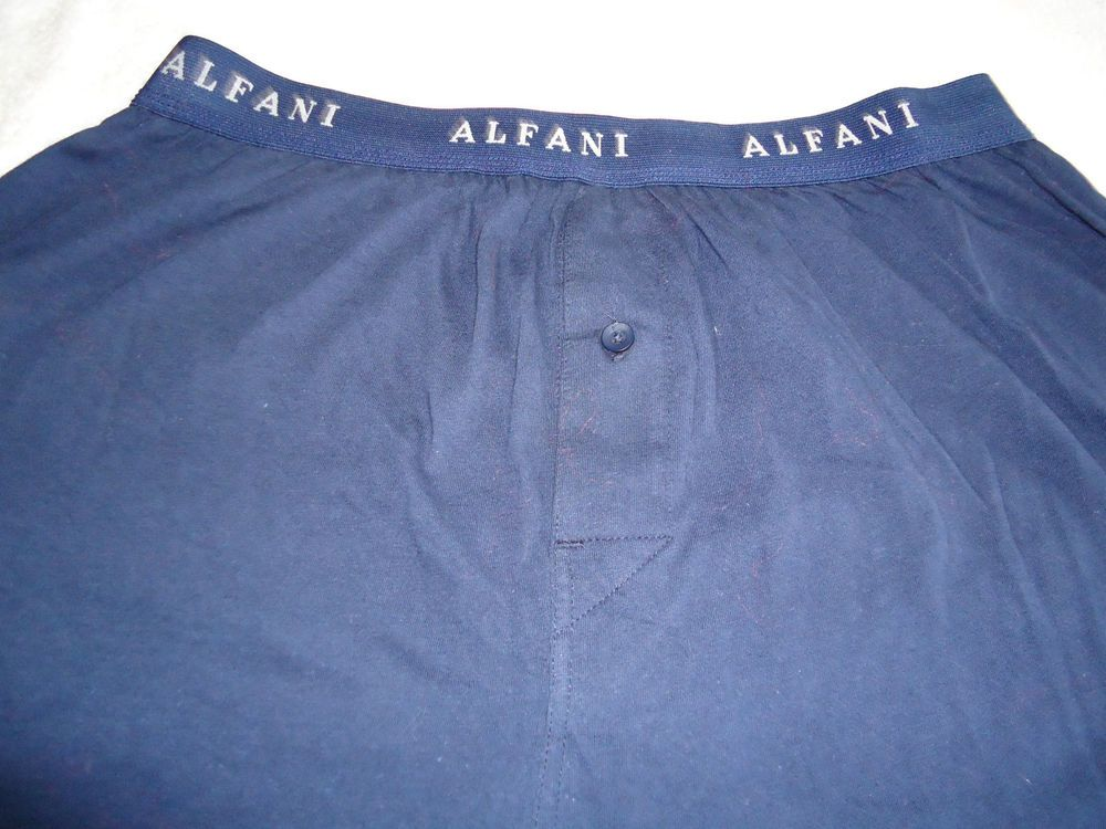 Men's  underwear ALFANI Boxer Brief Sz L New Dk Blue Color 100% Combed Cotton  #Alfani #BoxerBrief