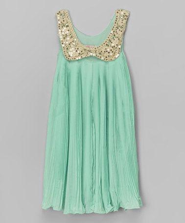 7e07a15df4d3 Green Sequin Collar Yoke Dress - Toddler   Girls  zulily ...