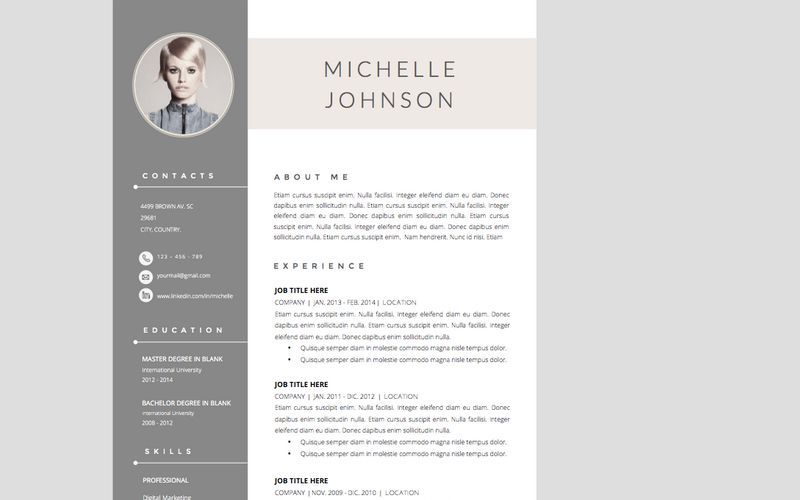 The Best CV \ Resume Templates 50 Examples Design Shack - cool resume templates for word