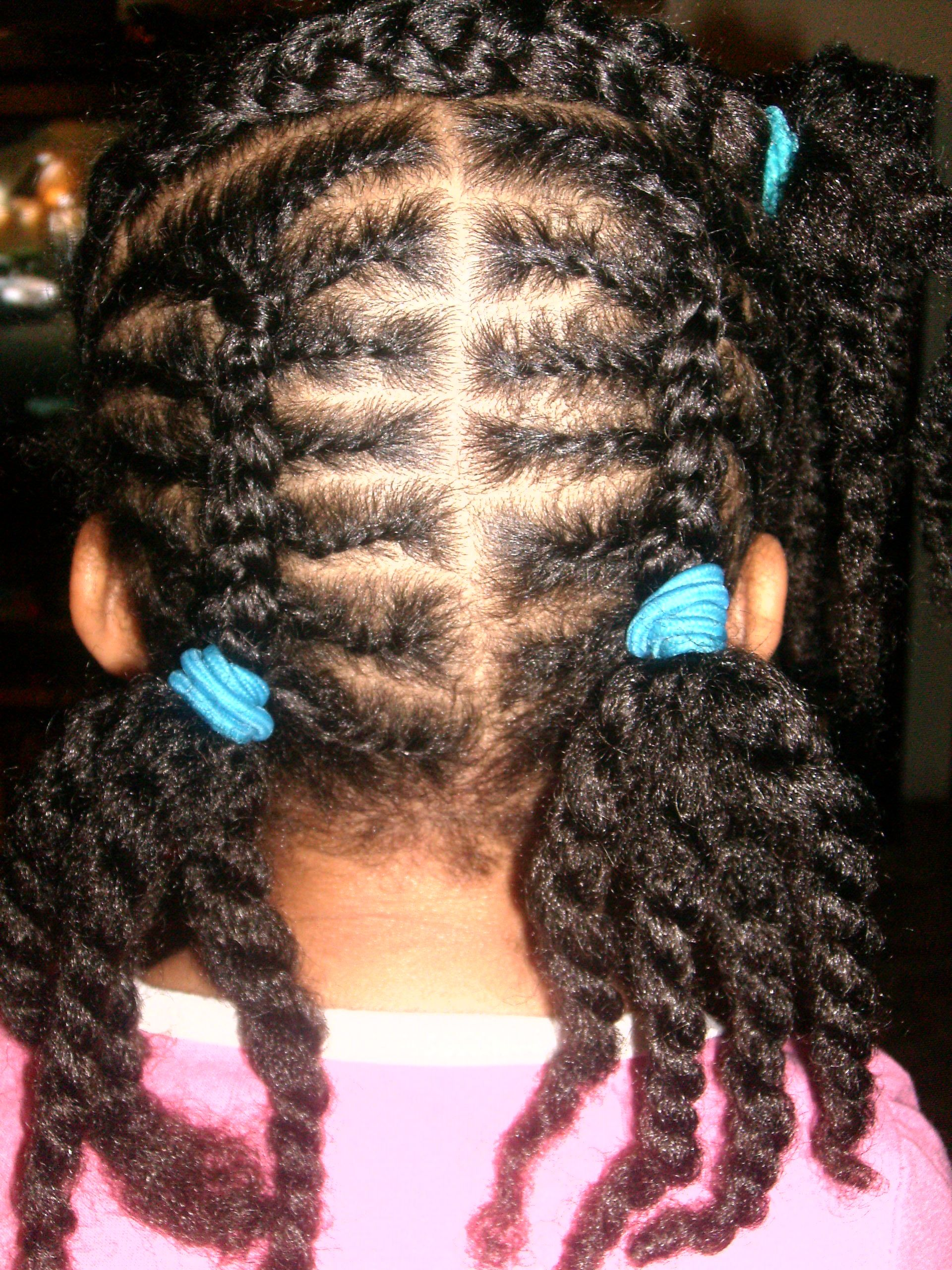 Flat Twists And 2 Strand French Braids Hair Styles Lola Hair Little Girls Natural Hairstyles