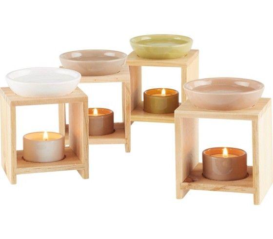 Dekorative Duftlampe aus Holz und Keramik - für eine gemütliche Stimmung