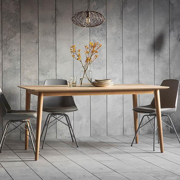 Portobello Oak Dining Table Scandinavian Dining Table Light Oak
