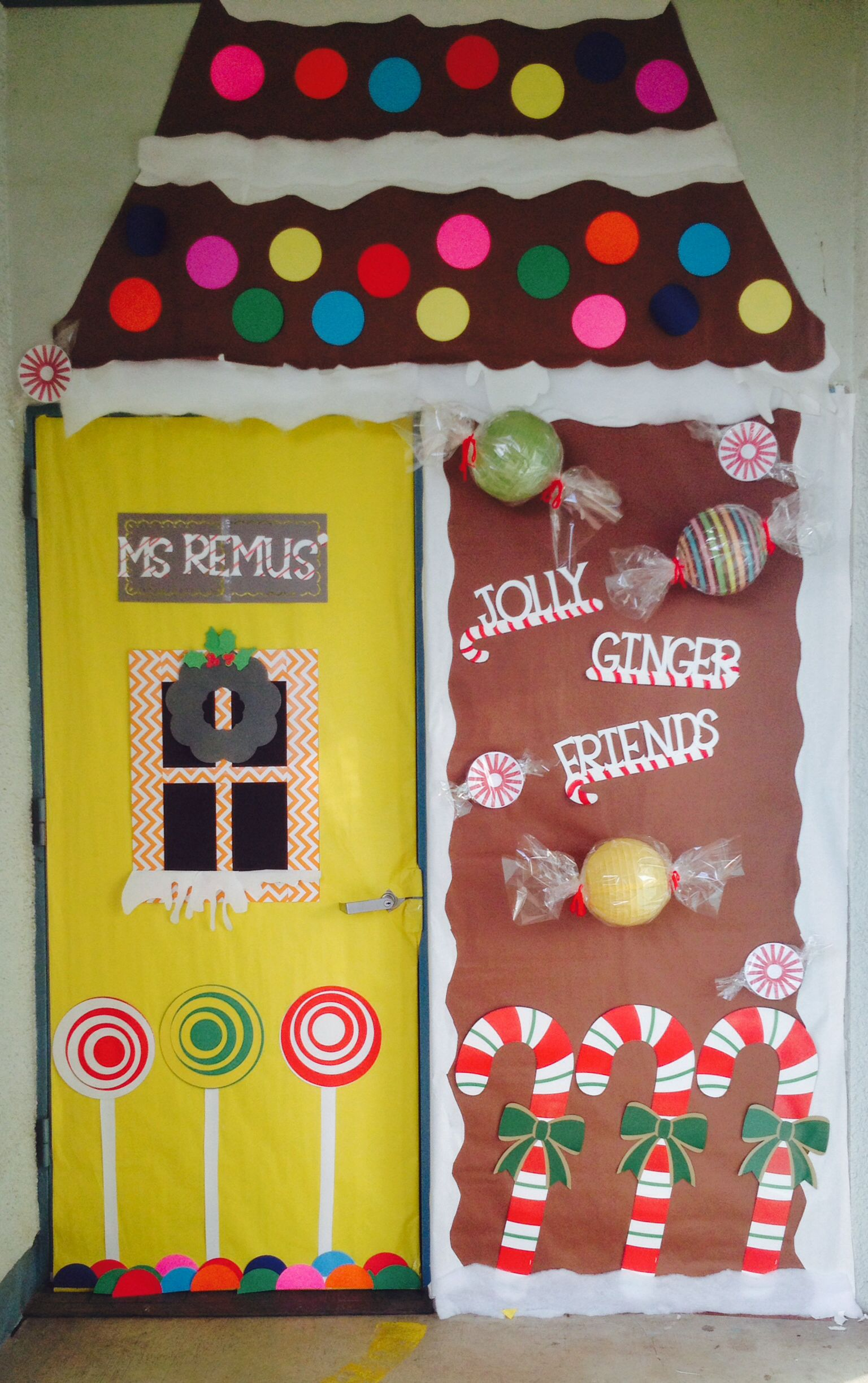 Gingerbread Classroom Door More
