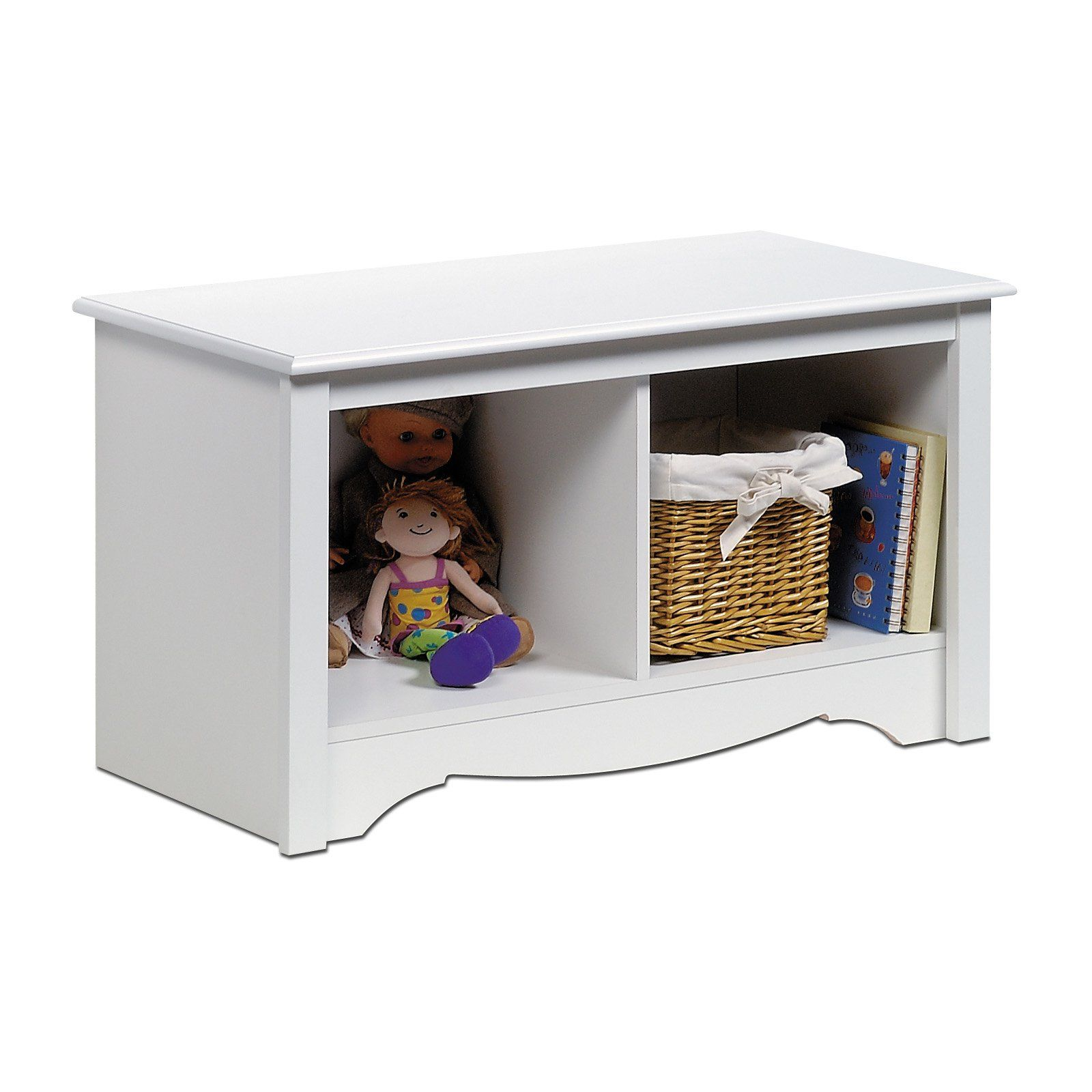 Prepac White Monterey Twin Cubbie Bench   Add Practical Storage And  Additional Seating To Any Room In Your Home With The Prepac Monterey Twin Cubbie  Bench.