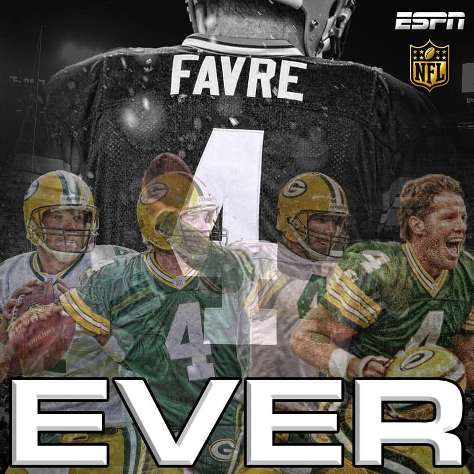 8c25f3f09f9 Brett Favre had his number 4 retired Thanksgiving night at halftime of the  Bears/Packers game.